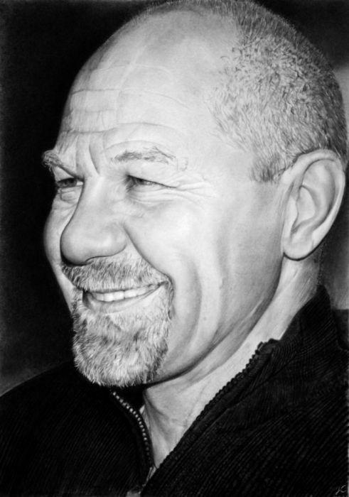 Автопортрет итальянского художника Franco Clun