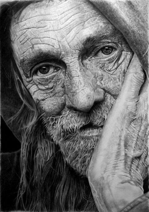 Гиперреалистичные портреты карандашом