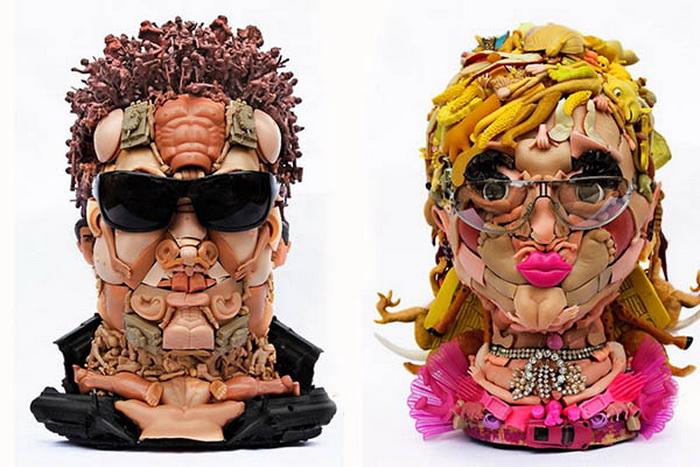 скульптуры из кукол от Freya Jobbins