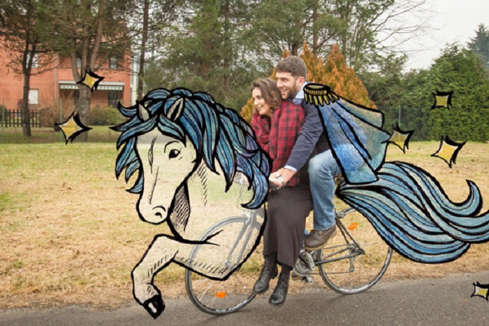 Принц на велосипеде.
