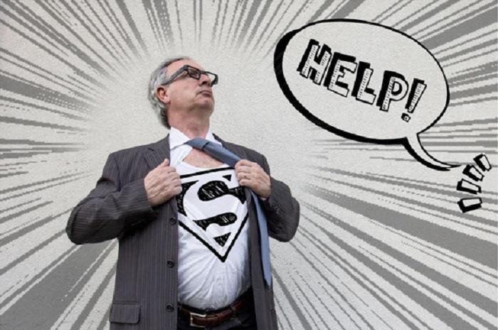 Папа - супергерой.