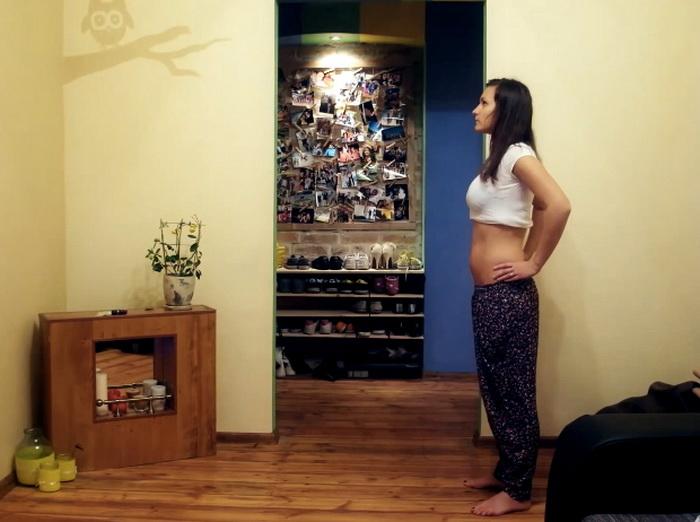видеоролик с этапами беременности