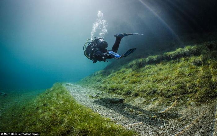 Подводная прогулка дайвера Марк Henauer