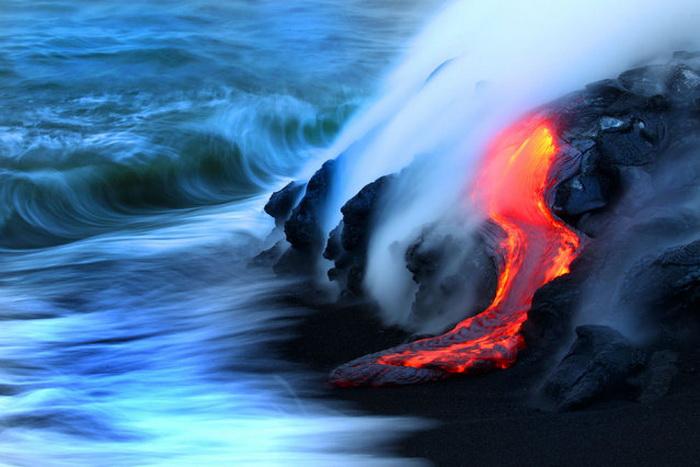 Вулкан на Гавайских островах, фотосессия.