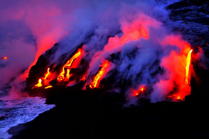 Вулкан Kilauea.