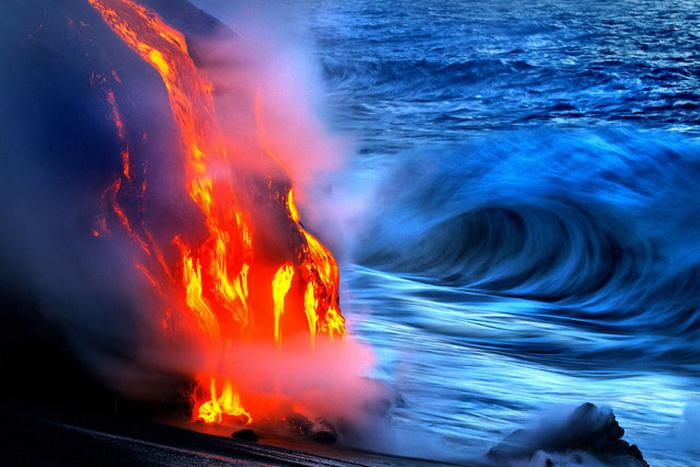Извержение вулкана Kilauea.