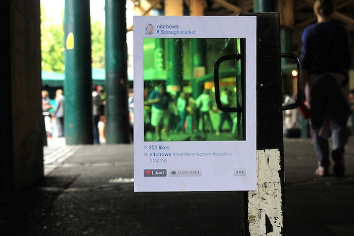 Real Life Instagram: проект английского художника Bruno Ribeiro
