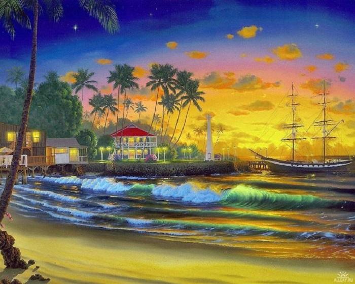 Гавайи от художника John Al Hogue.