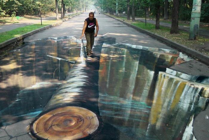 трехмерная картина художника Julian Beever