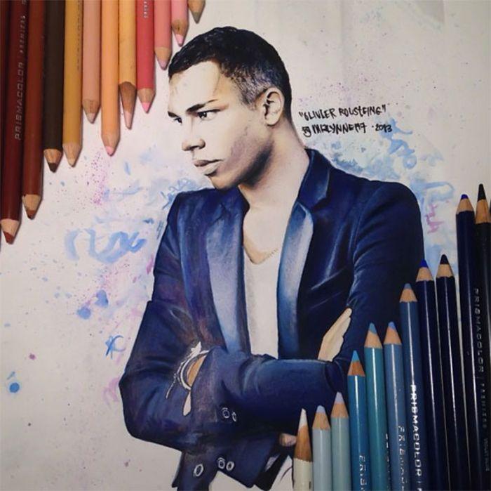 Картины, нарисованные цветными карандашами