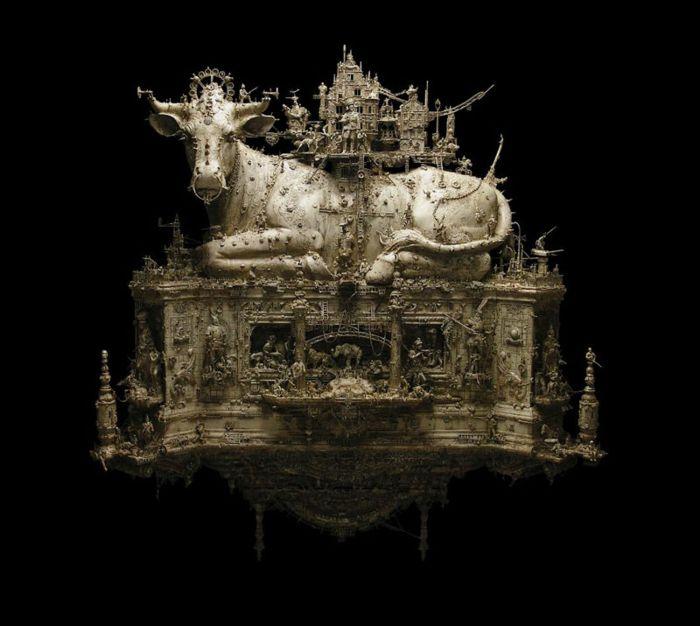 Скульптуры из металла Kris Kuksi