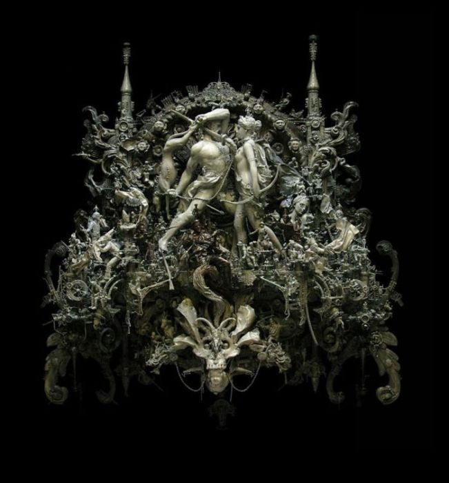 Скульптуры американца Kris Kuksi