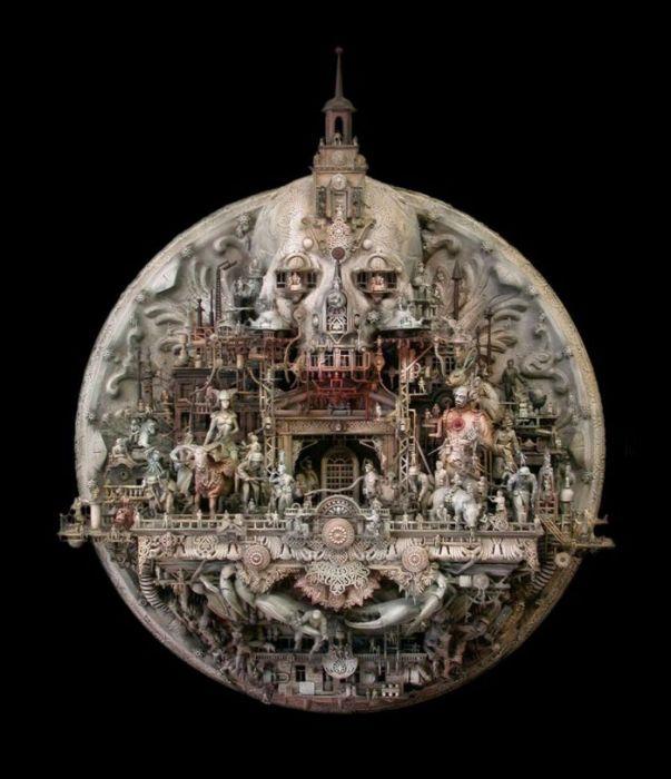 Kris Kuksi: скульптуры из металла