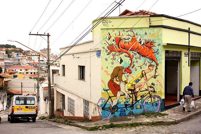 Красочное граффити