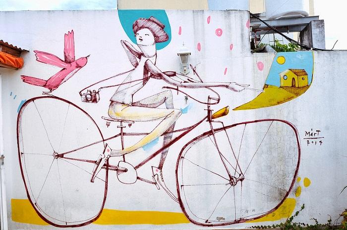 Оригинальные велосипеды от уличного художника Mart