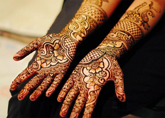 Индийские росписи хной