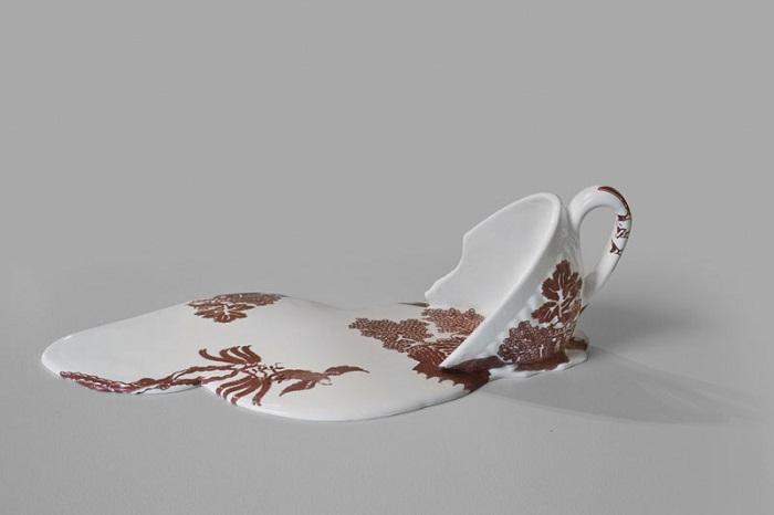 Расплавленный фарфор в коллекции Livia Marin