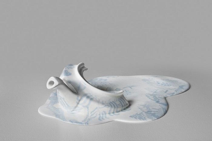 Расплавленный фарфор в коллекции художника Livia Marin