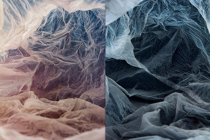 Plastic bag landscapes: пейзажи из пакетов.