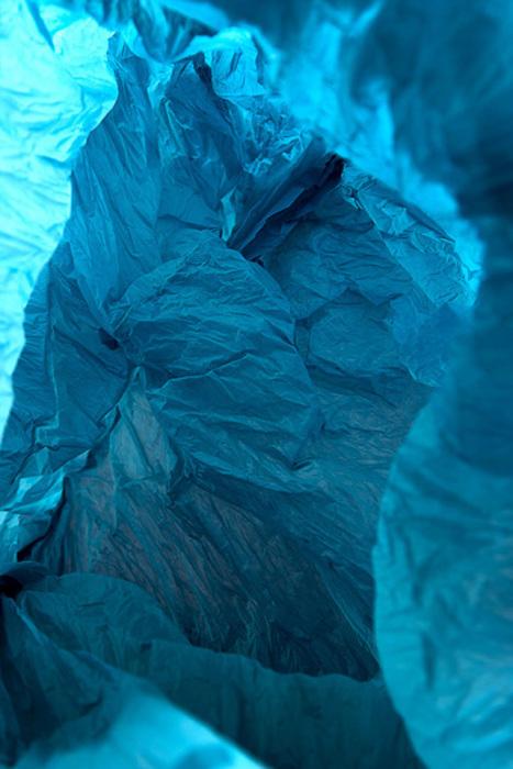 Plastic bag landscapes.