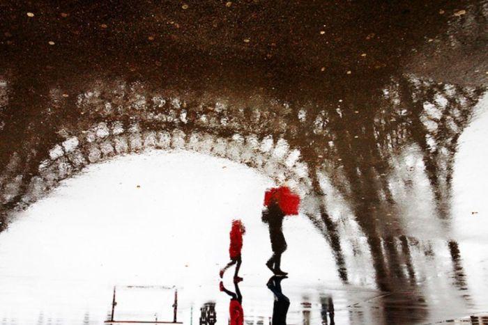 Парижские улицы в дождь