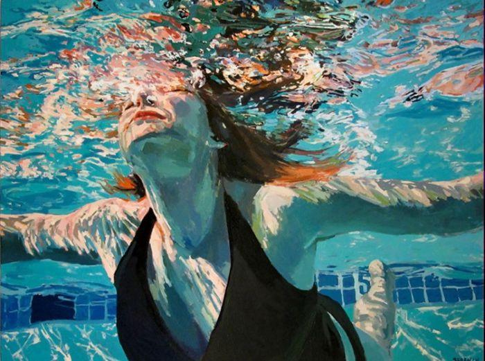 Подводные портреты от художницы Samantha French