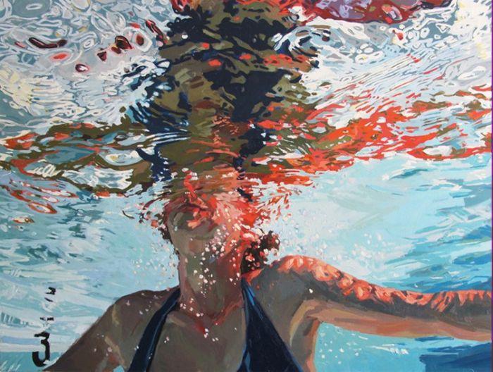 Портрет под водой