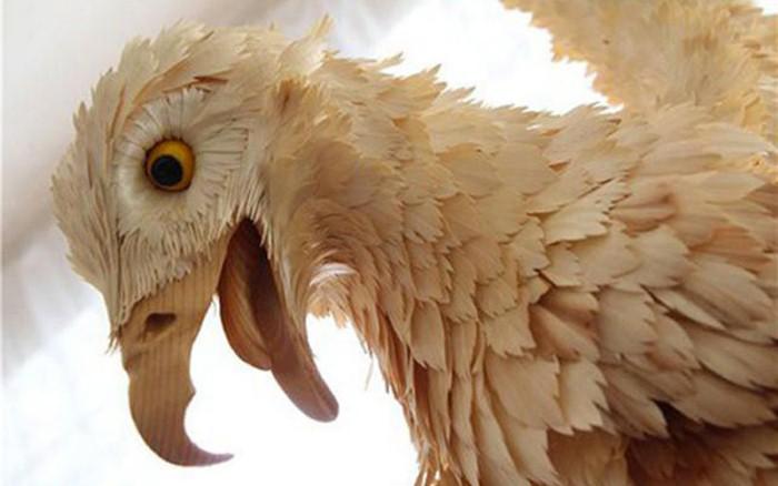 Фигуры животных из деревянных стружек в натуральную величину
