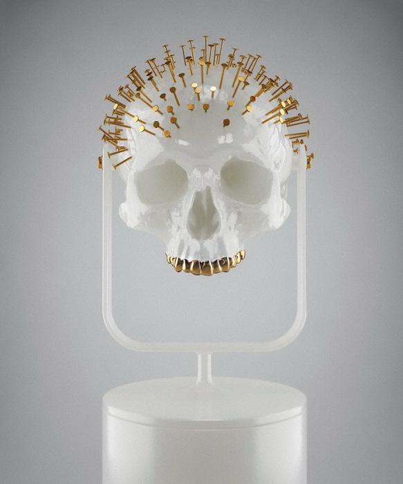 черепа «Skull-ptures» от скульптора Hedi Xandt