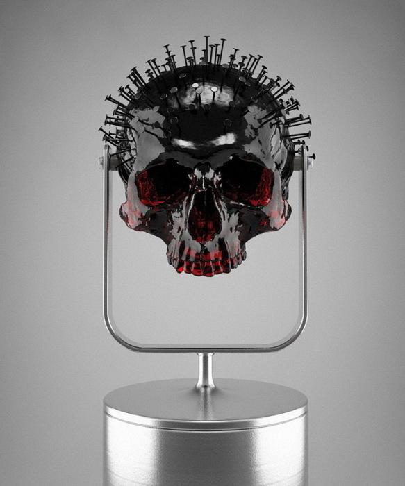 роскошные черепа «Skull-ptures» от скульптора Hedi Xandt