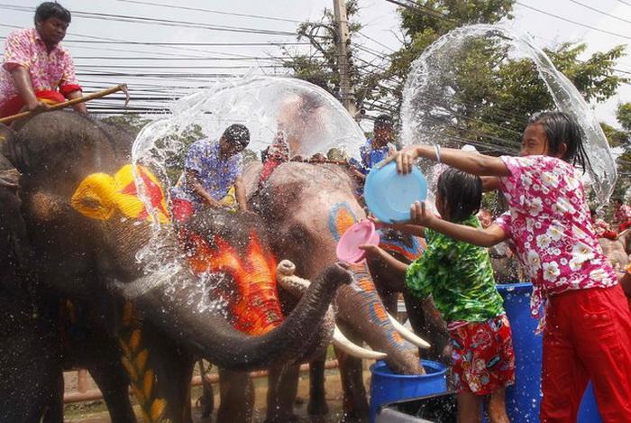 Songkran в Таиланде.