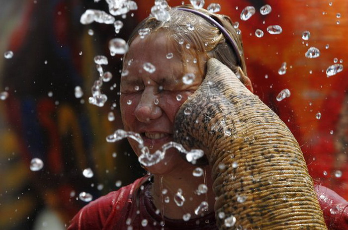 Праздник Songkran в Таиланде.