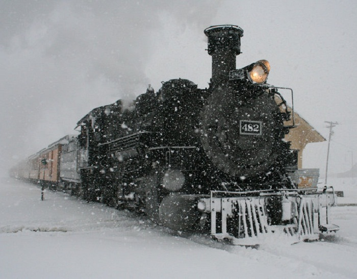 Снег в США.