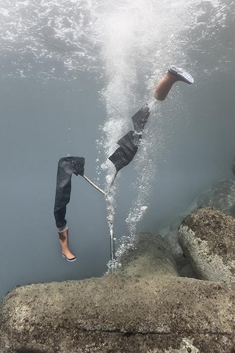 Необычные подводные скульптуры.