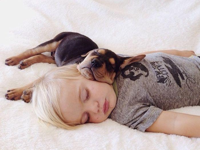 Дружба мальчика Бо и собаки Тео