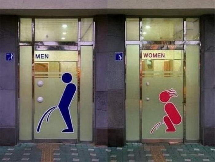 наглядная туалетная вывеска