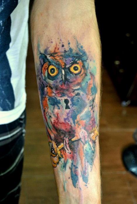 Фантастические татуировки Victor Octaviano: брызги красок на теле