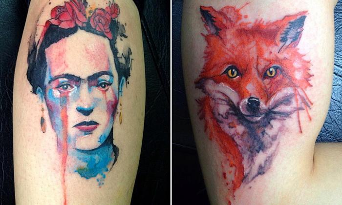Фантастические татуировки Victor Octaviano: брызги красок на человеческом теле