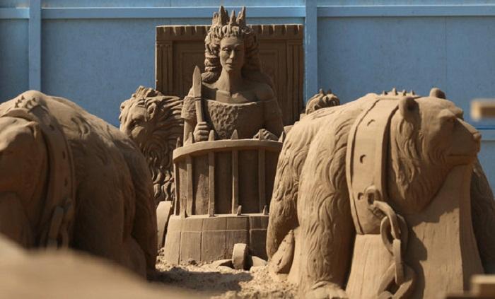 Песочные скульптуры на Weston-Super-Mare.