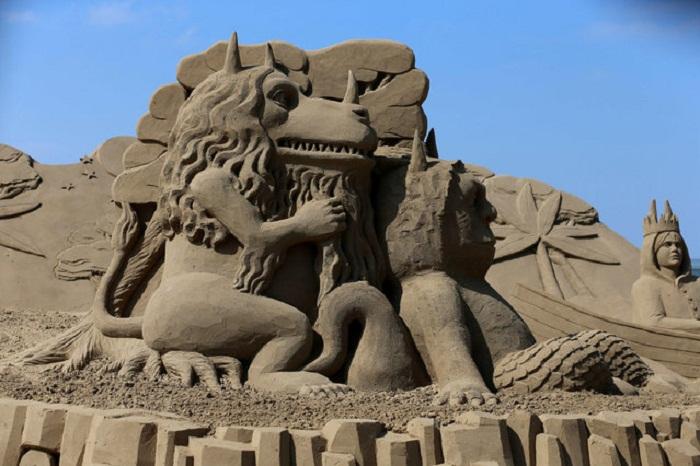 Песочные скульптуры.