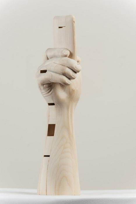 Paul Kaptein: деревянные скульптуры