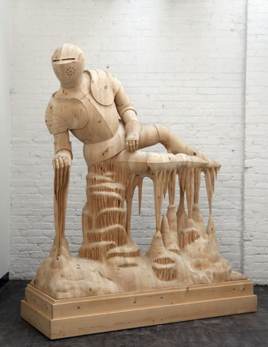 Деревянный рыцарь скульптура Morgan Herrin