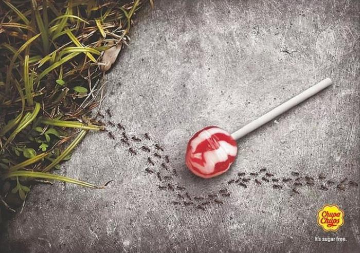 Реклама чупа-чупса без сахара