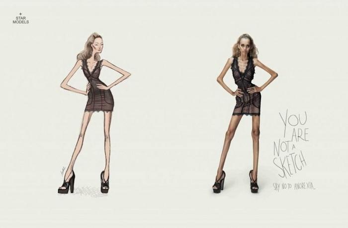 Реклама, выступающая против модельных стандартов