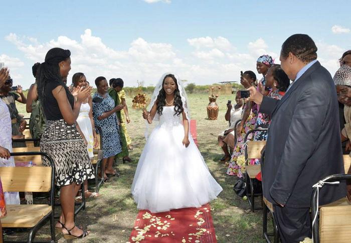 Оригинальная свадьба в африканском