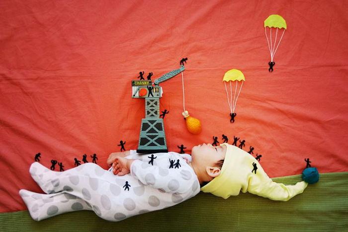 фотографии спящего младенца от Queenie Liao