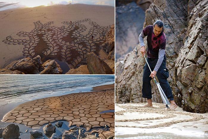Картины на песке от Andres Amador