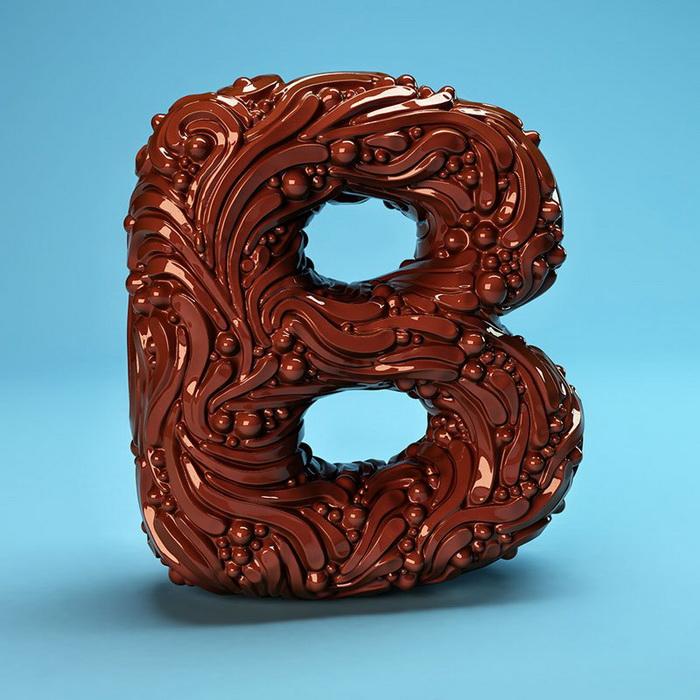 FOREAL: алфавит в стиле 4Д