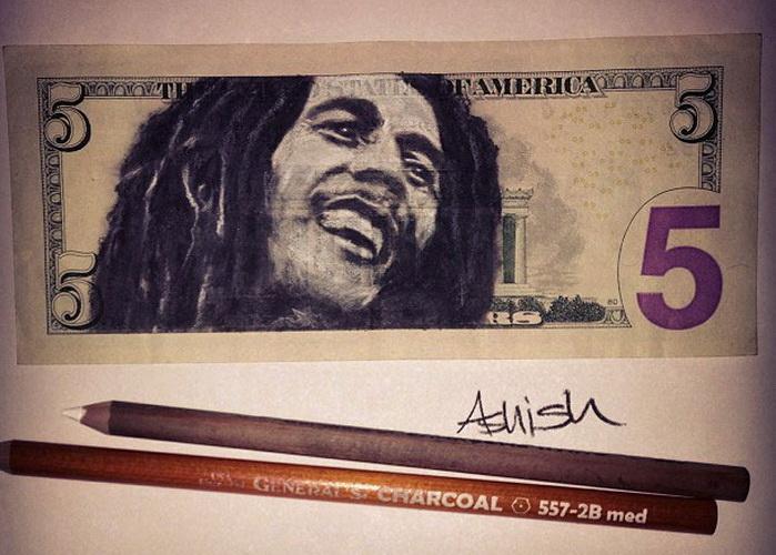 Портреты на долларовых купюрах от Ashish Patel