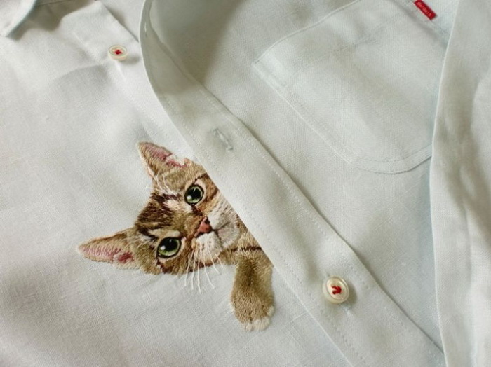 Рукодельница Хироко Кубота, и ее коты на сорочке